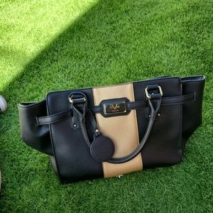 Black and tan Versace 1969 Purse